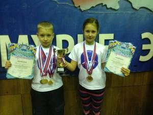 Барышев Андрей и Лагода Кристина победители соревнований по плаванию в городе Райчихинск